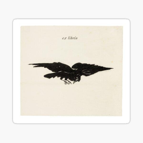 Flying Raven Ex Libris Sticker