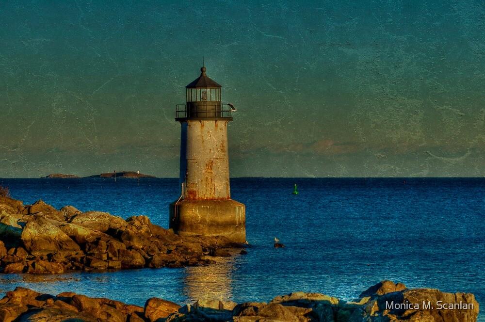 Fort Pickering Light by Monica M. Scanlan
