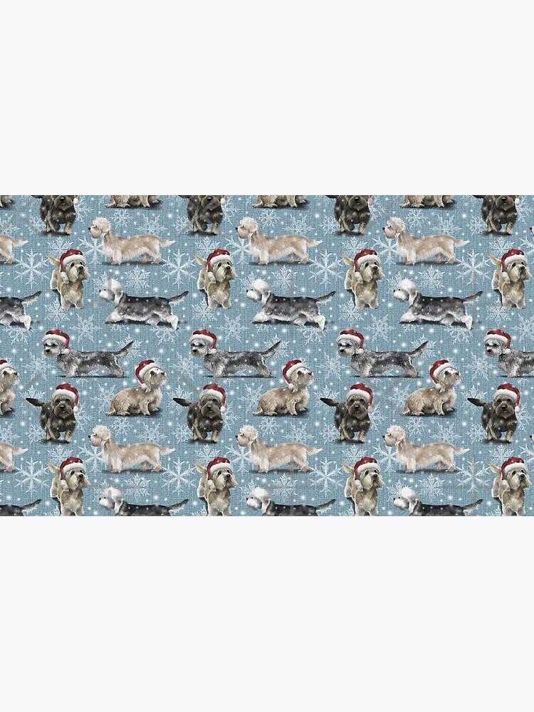 The Christmas Dandie Dinmont Terrier by elspethrose