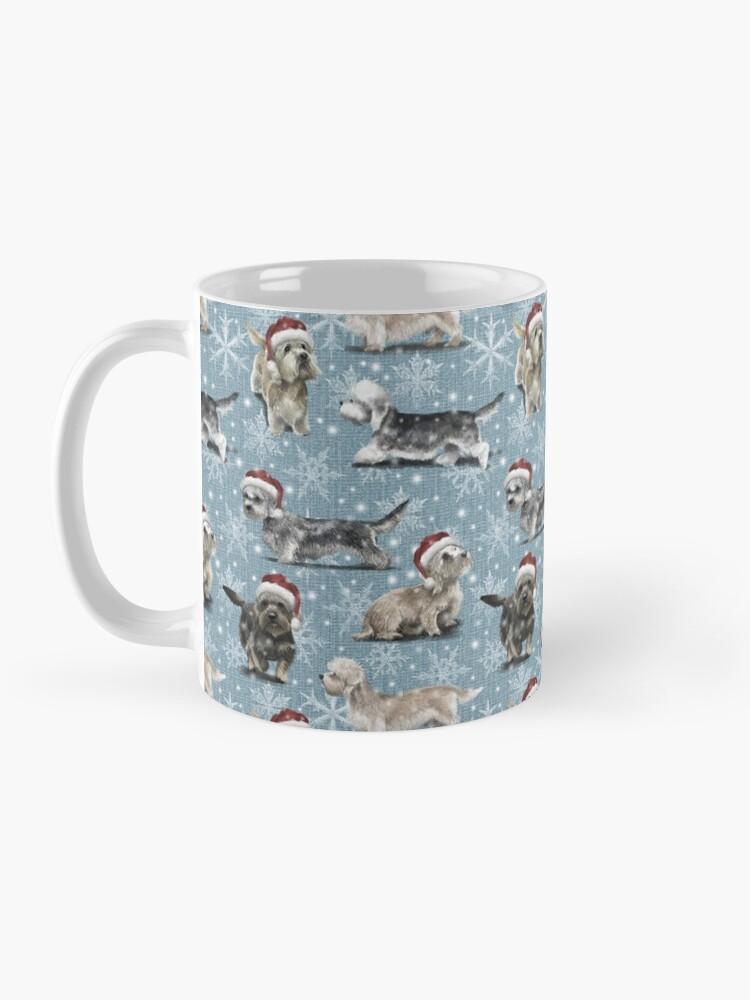 Alternate view of The Christmas Dandie Dinmont Terrier Mug