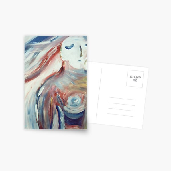 Sad Woman Postcard