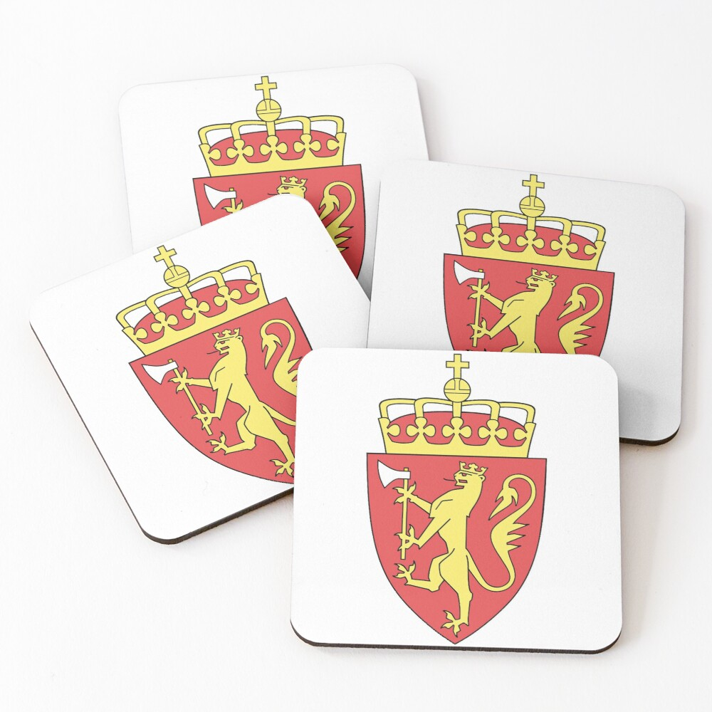 Coat of arms of Norway. Coasters (Set of 4)