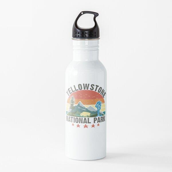 Parque Nacional de Yellowstone Wyoming montañas paisaje volcán géiser Botella de agua
