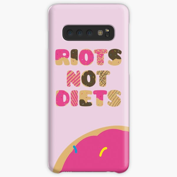 Riots Not Diets // Pink Samsung Galaxy Snap Case