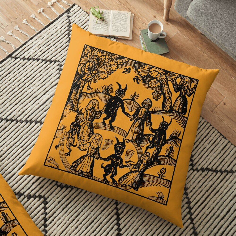 Dance with the Devil  Floor Pillow