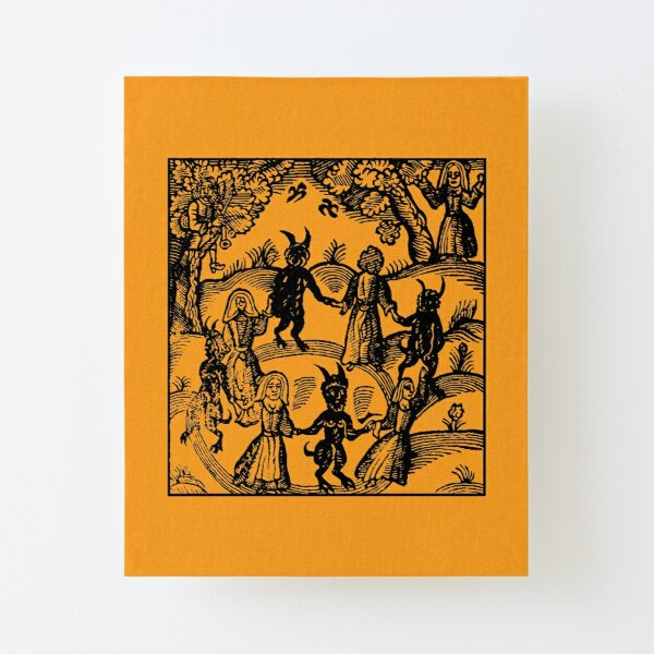Dance with the Devil  Canvas Mounted Print