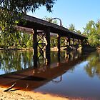 Moama Echuca Bridge - Murray River by Geoff Beck