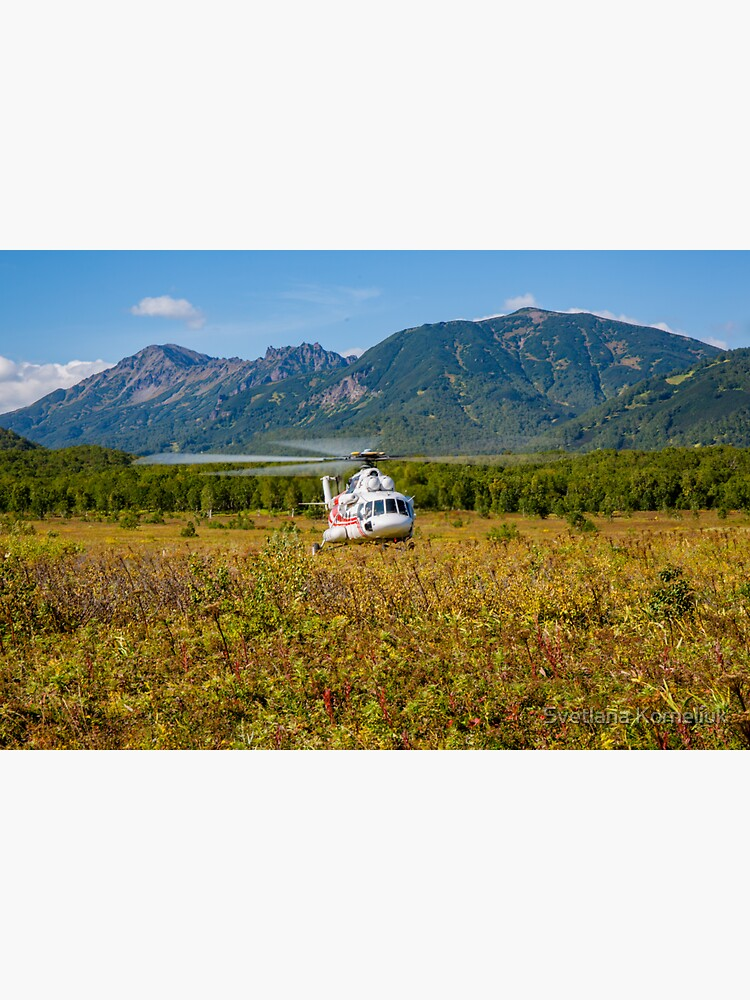 Helicopter landed in an autumn landscape by SvetlanaKorneli