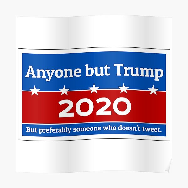 Anyone but Trump 2020 Poster