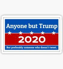Anyone but Trump 2020 Glossy Sticker