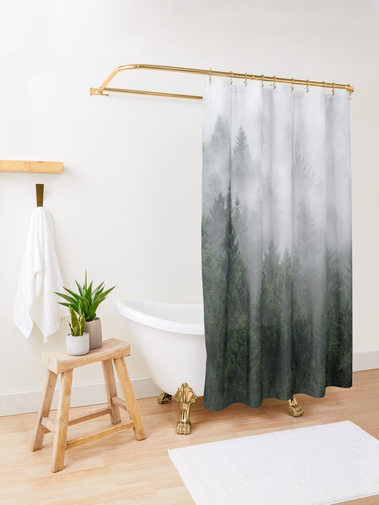Alternate view of Home Is A Feeling Shower Curtain