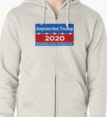 Anyone but Trump 2020 Zipped Hoodie