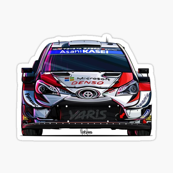Toyota Yaris WRC (juego de 4) Pegatina
