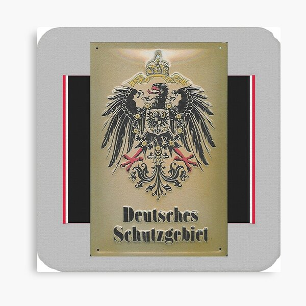 Signage for German Overseas Colonies Canvas Print