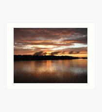 Setting Sun on the Arkansas River Art Print