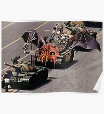 """Tiananmen Robots.........alternate reality distortion"" Poster"