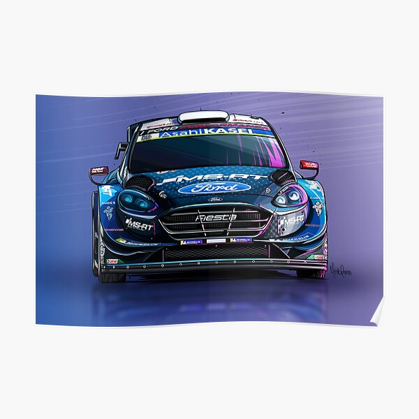 Ford Fiesta WRC (Set of 4) Poster