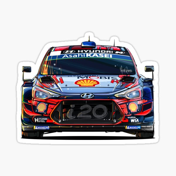 Hyundai i20 WRC (juego de 4) Pegatina