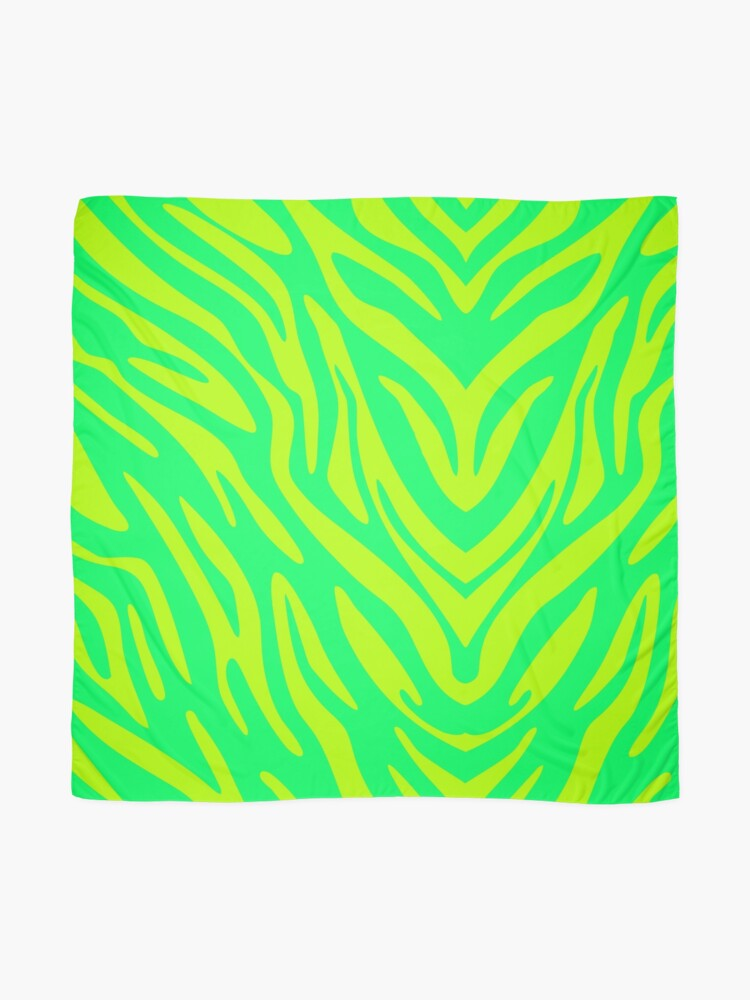 Alternate view of Lime Zebra Scarf