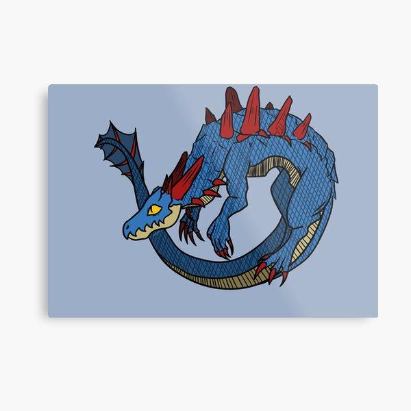Chibi Monster MH - Lagiacrus Metal Print