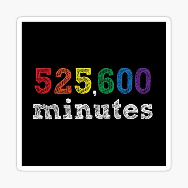 600 minutos ¿Cómo mides un año? Pegatina