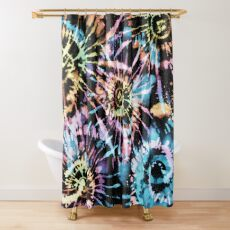 Rainbow Tie-Dye Blast Shower Curtain