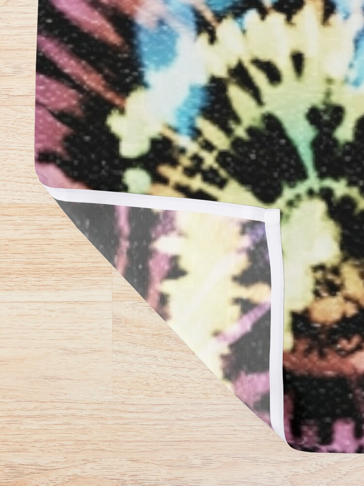 Alternate view of Rainbow Tie-Dye Blast Shower Curtain