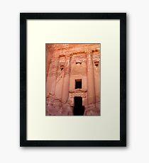 Urn Tomb - Petra, Jordan Framed Print