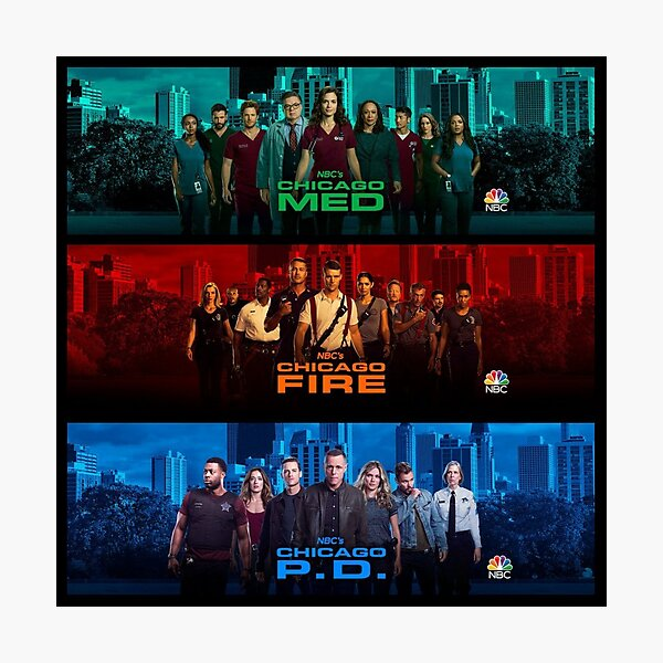Chicago PD Fire Med Photographic Print