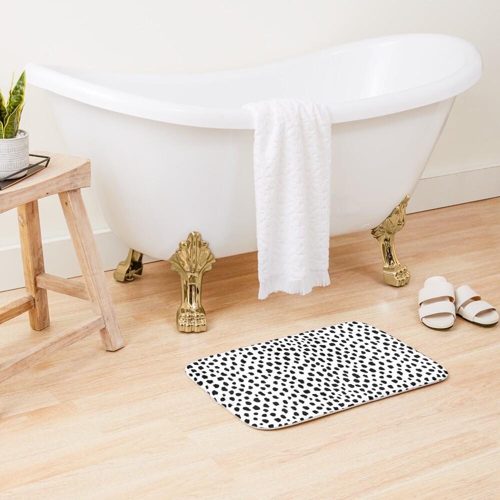 Dalmatian Spots (black/white) Bath Mat