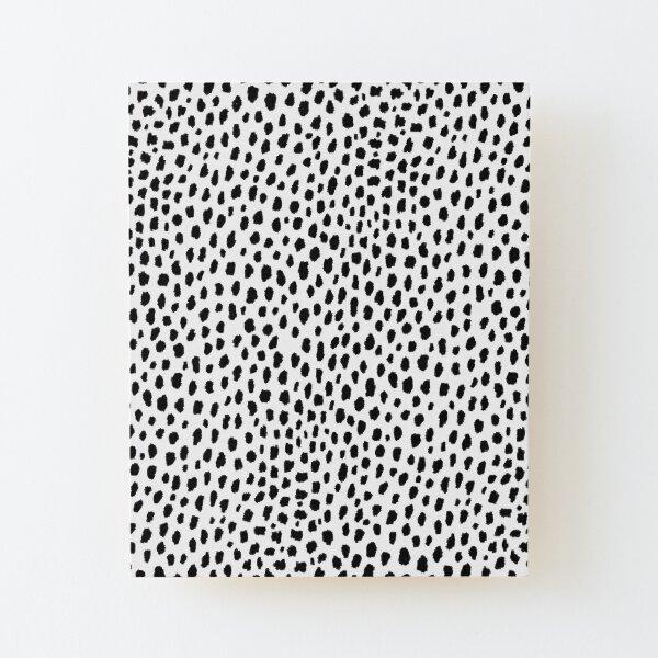 Dalmatian Spots (black/white) Wood Mounted Print