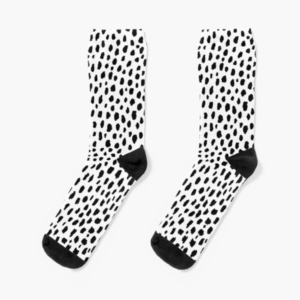 Dalmatian Spots (black/white) Socks