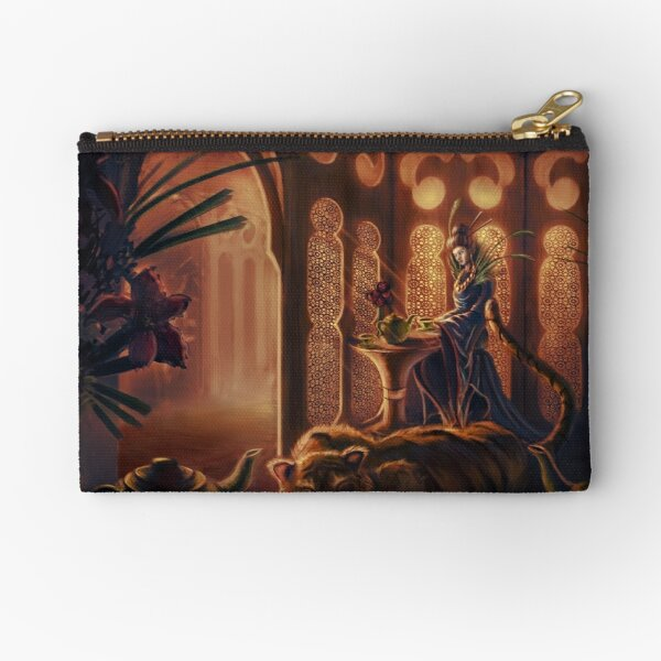Tiger in the Tea House Zipper Pouch