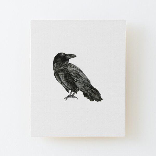 Raven Wood Mounted Print