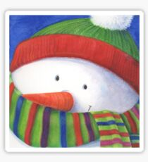 Cute Christmas Snowman with scarf Sticker