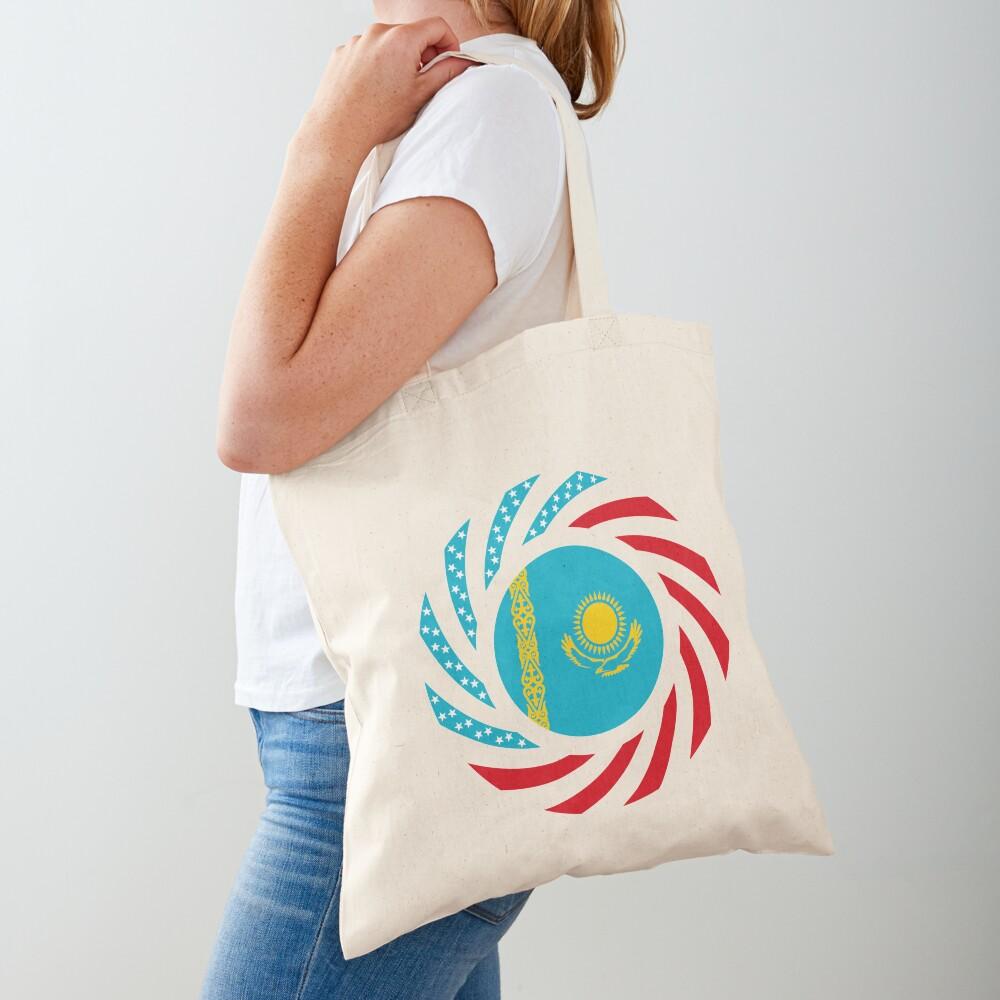 Kazakhstani American Multinational Patriot Flag Series Tote Bag