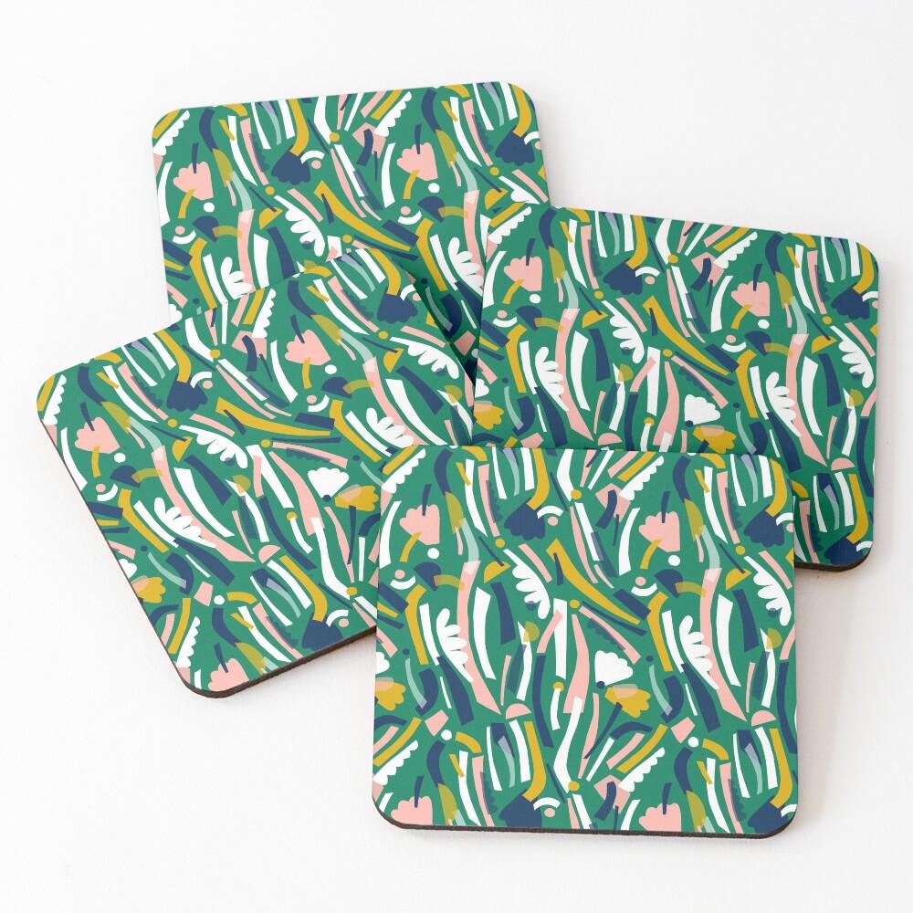 Flowerbed II Coasters (Set of 4)