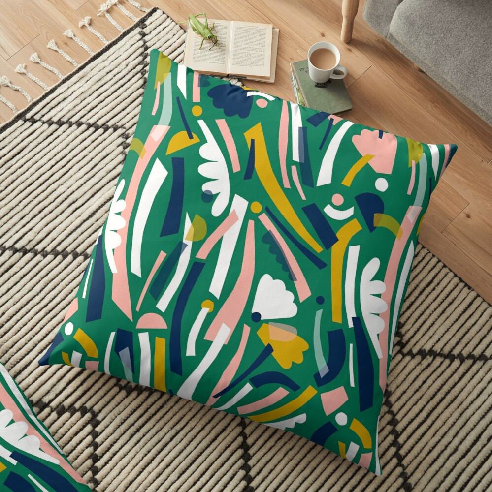 Flowerbed II Floor Pillow