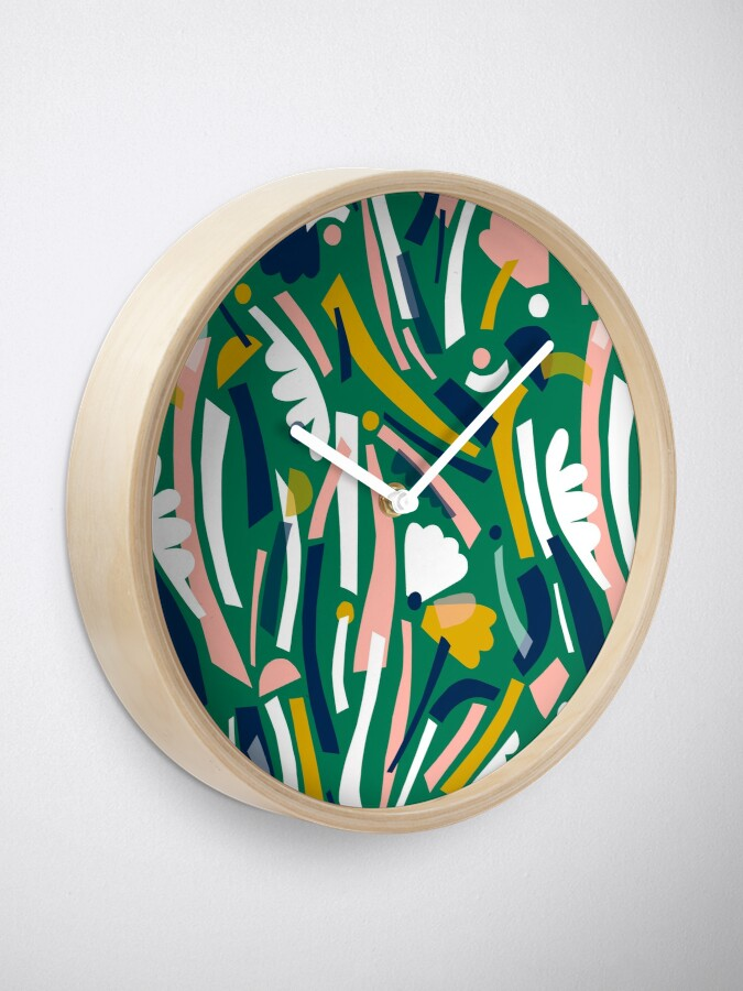 Alternate view of Flowerbed II Clock