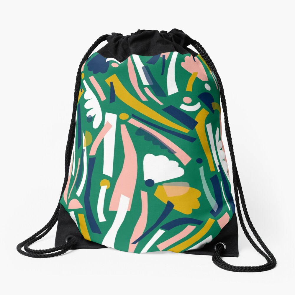 Flowerbed II Drawstring Bag