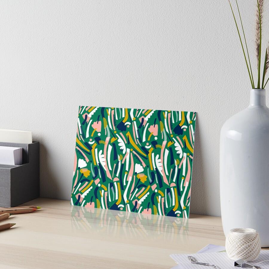 Flowerbed II Art Board Print