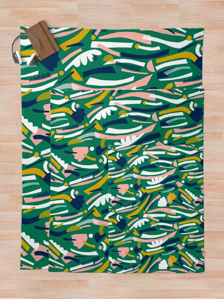 Alternate view of Flowerbed II Throw Blanket