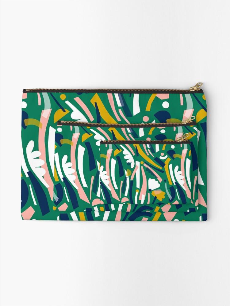 Alternate view of Flowerbed II Zipper Pouch