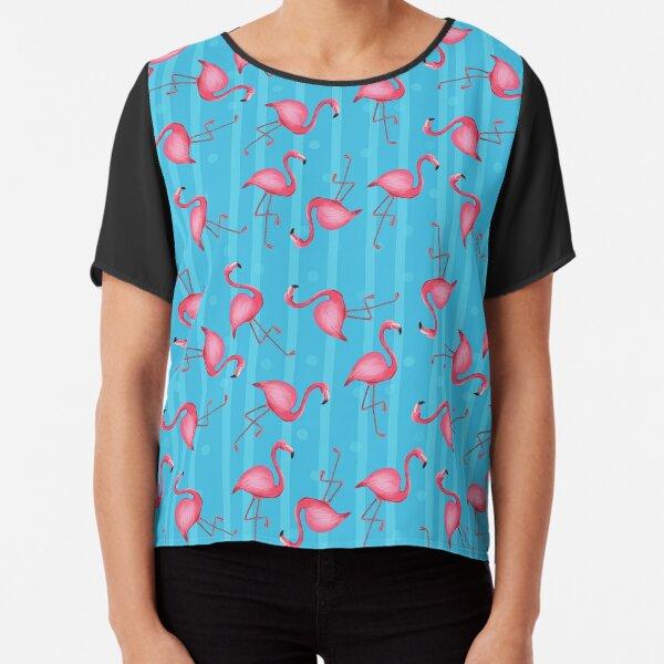 Flamingo Chiffon Top