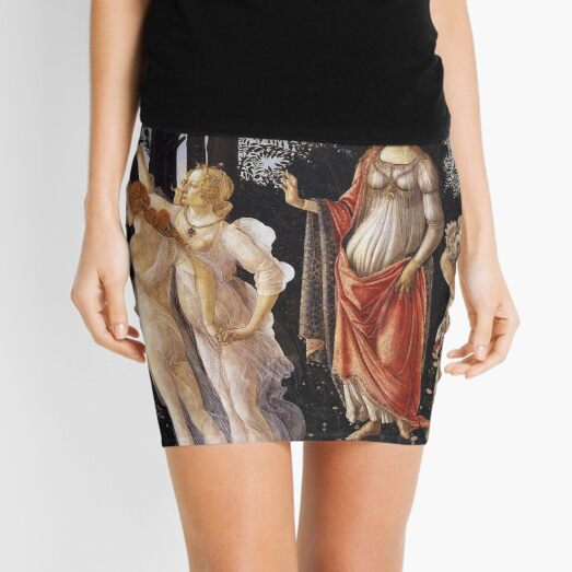 Sandro Botticelli La Primavera (Spring) 1482 Artwork for Prints Posters Tshirts Men Women Kids Mini Skirt