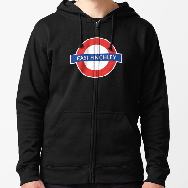 East Finchley Underground Northern Line Station Zipped Hoodie