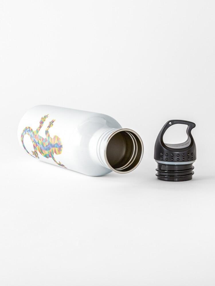 Alternative Ansicht von Vivid Barcelona Stadt Eidechse Trinkflasche