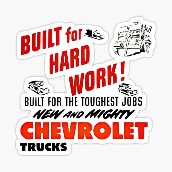 Vintage Chevrolet Advertisement graphic Sticker