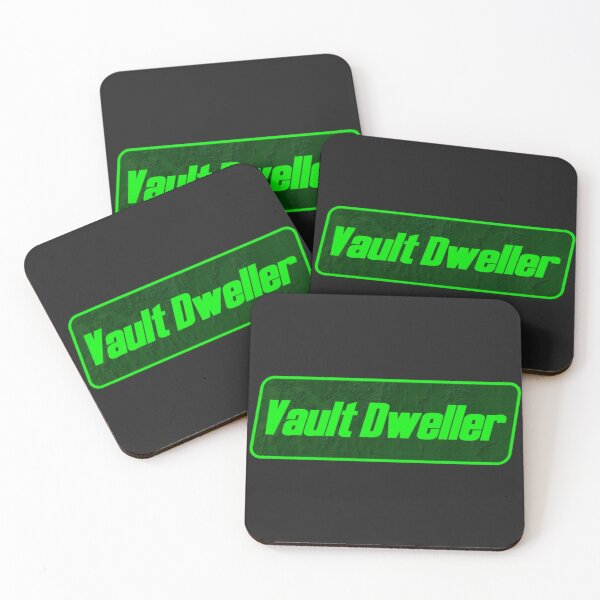 Vault Dweller Tag | Fallout Protagonist Symbol Coasters (Set of 4)