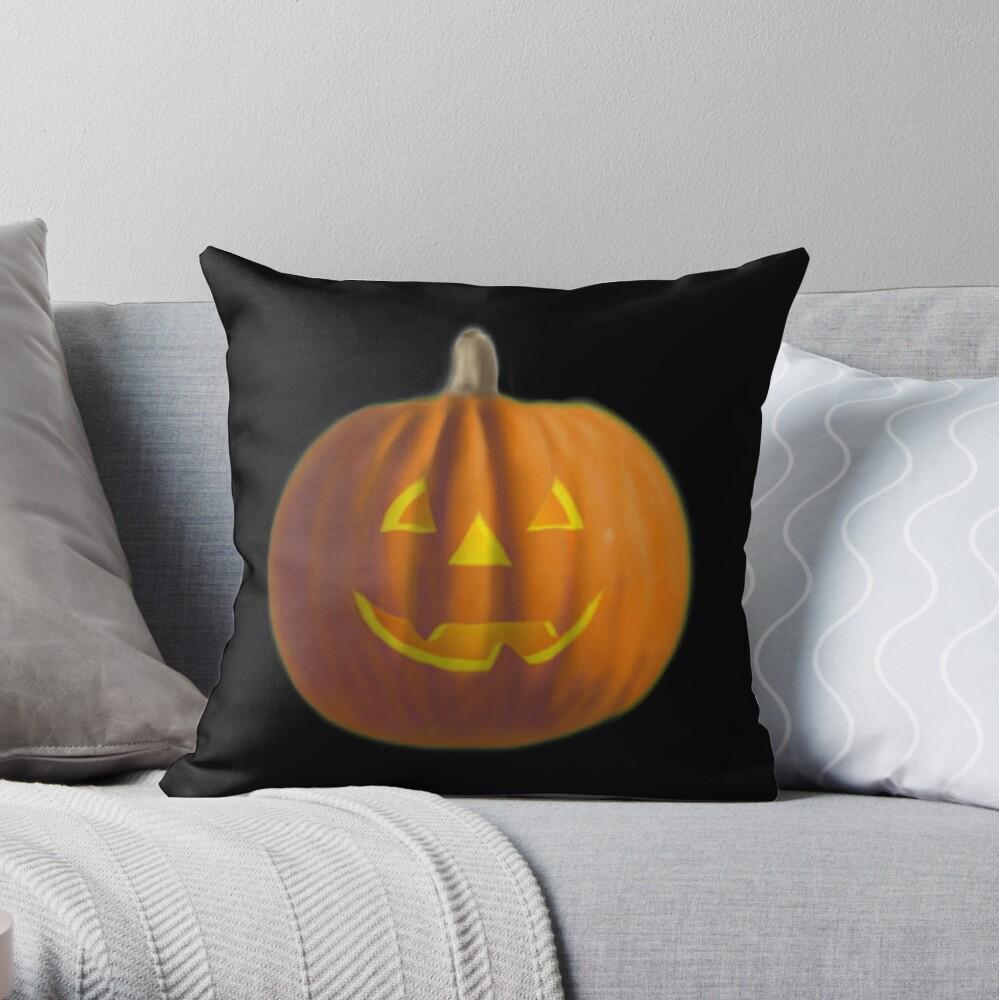 Happy Pumpkin Throw Pillow